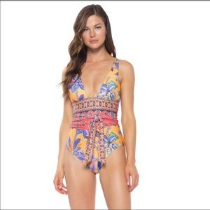 Becca trapestry bloom one piece swimsuit